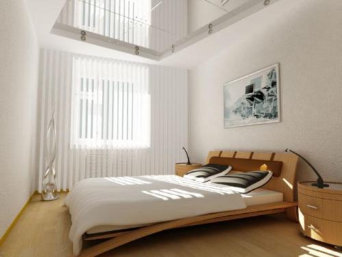 Нежные цвета в интерьере маленькой спальни