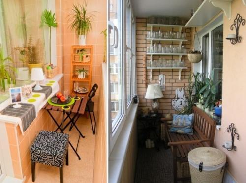 Место для отдыха на маленьком балконе
