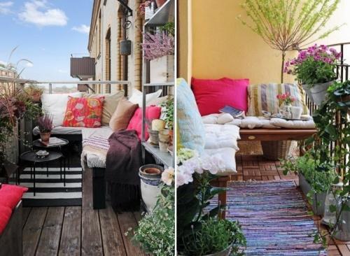 Место для релаксации на балконе