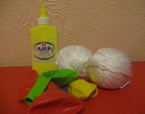 Материалы для изготовления снеговика из ниток