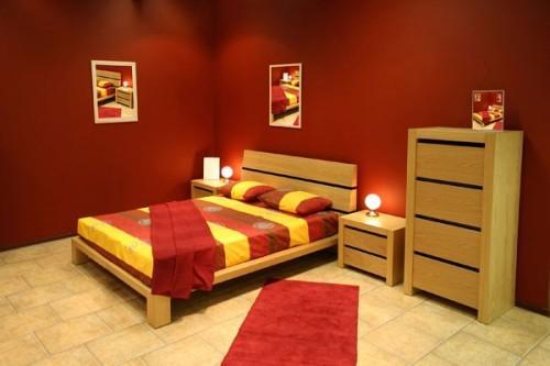 Роль освещения в красной спальне