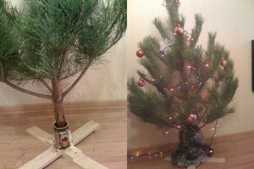 Подставка для елки своими руками быстро