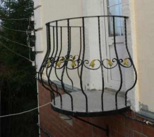 Круглый балкон своими руками