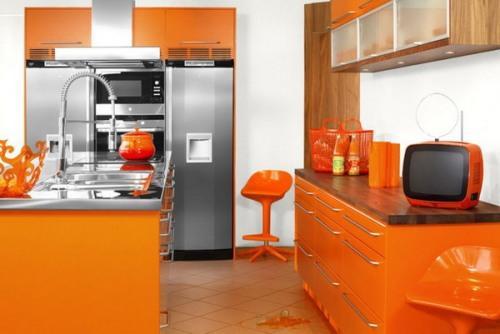 Особенности кухни оранжевого цвета