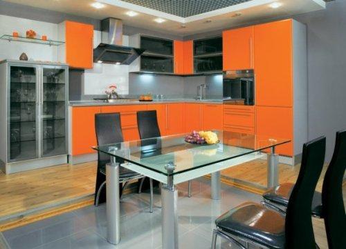 Сочетания цветов в интерьере оранжевой кухни