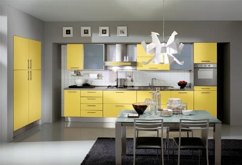 Оборудование на желтой кухни