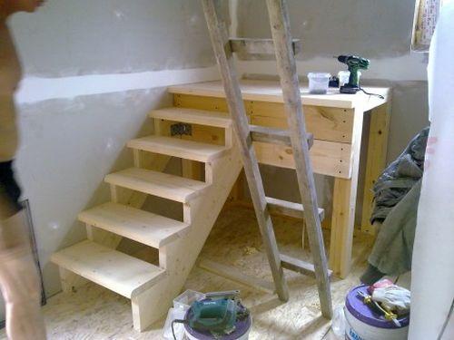 Лестница своими руками с поворотными ступенями