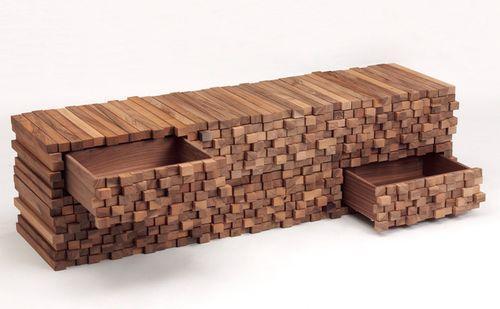 Дизайнерская мебель из брусков