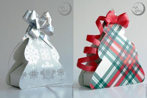 Коробочка для новогоднего подарка своими руками фото
