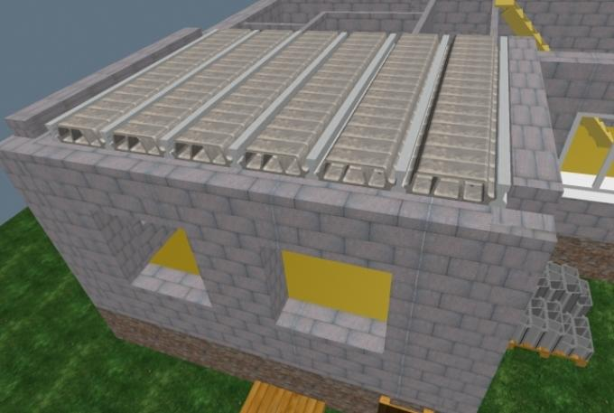 Укладка многопустотных блоков
