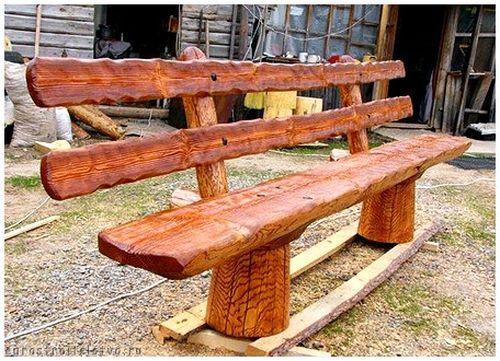 Скамейка для дачи из дерева