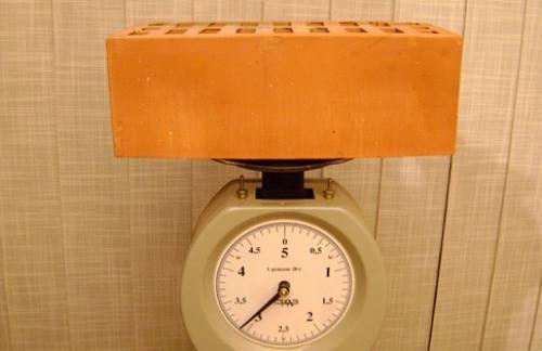 Вес кирпича