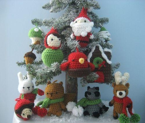 Вязаные игрушки на елку своими руками