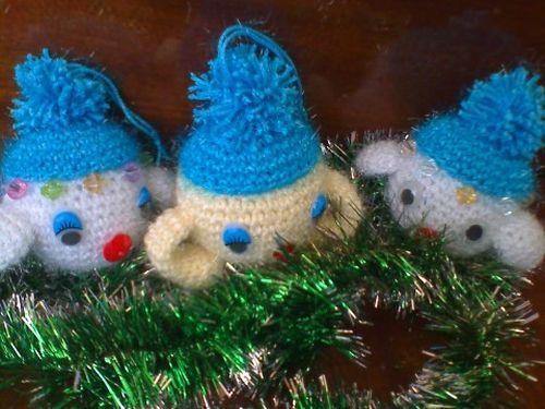 Вязаные чудные игрушки на елку