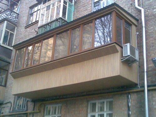 Балкон с выносом. Фото 10