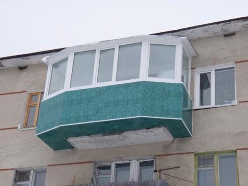 Балкон с выносом. Фото 3