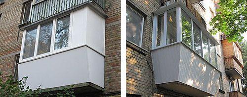 Фото пластиковых балконов 10