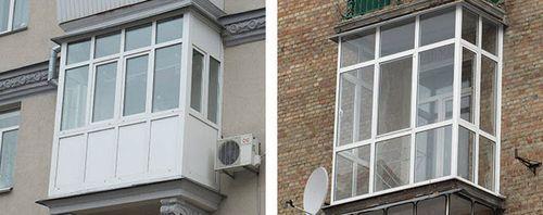 Фото пластиковых балконов 11