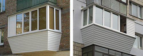 Балкон обшит пластиком