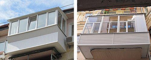 Фото пластиковых балконов 8