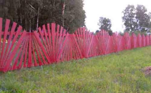 Красивый недорогой забор для дачи
