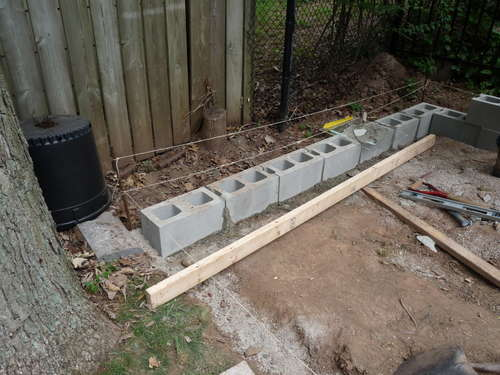 Строим фундамент под сарай