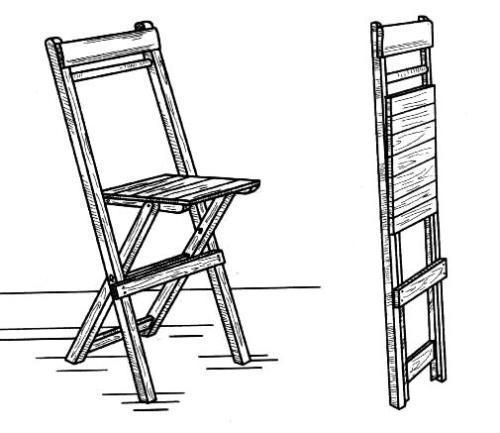 Складной деревянный стул своими руками. Как сделать?