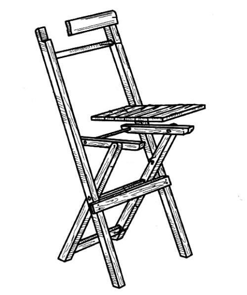 Сборка складного стула
