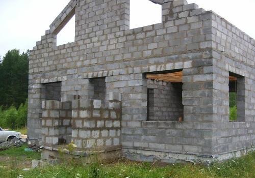 Строительство стен тамбура