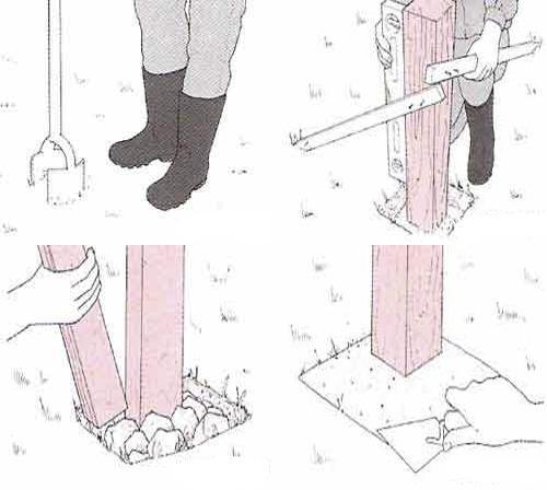 Как правильно забетонировать столб