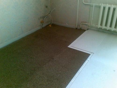 Утепление бетонного пола первого этажа в доме без подвала