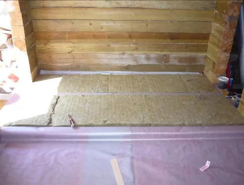 Утепление пола в деревянном доме