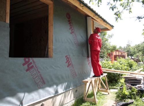 Ветрозащита стен в каркасном доме