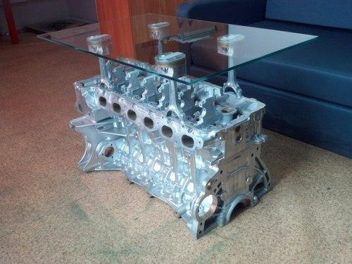 Журнальный столик своими руками из автомобильного двигателя