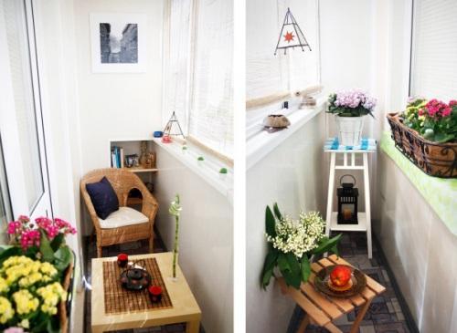 Интерьер маленького балкона. Фото 13