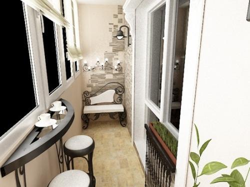 Интерьер маленького балкона. Фото 2