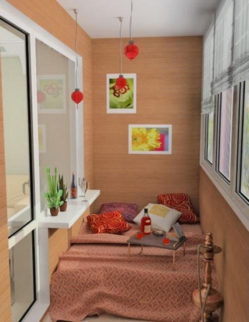 Интерьер маленького балкона. Фото 4