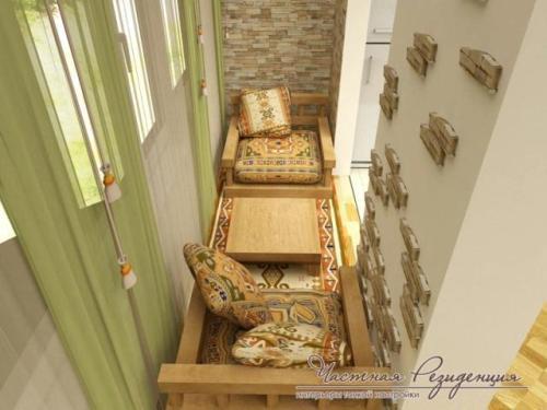 Интерьер маленького балкона. Фото 6