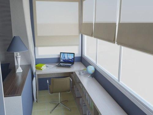Интерьер маленького балкона. Фото 7