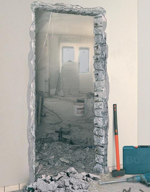 Как сделать проем (нишу) в стене?