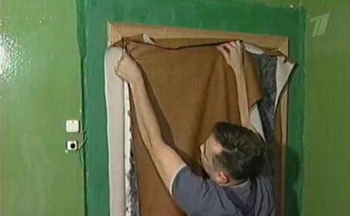 Обивка дверей дермантином своими руками