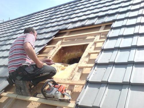 Монтаж окна в крыше