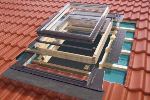 Последовательность установки окна в крыше