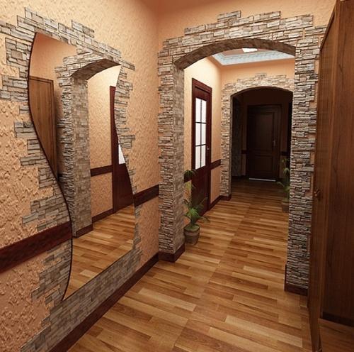 Отделка дверных проемов декоративным камнем. Фото 5
