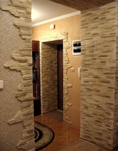 Отделка дверных проемов декоративным камнем. Фото 6