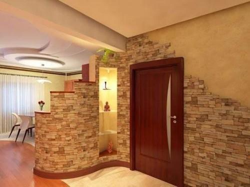 Отделка дверных проемов декоративным камнем. Фото 7