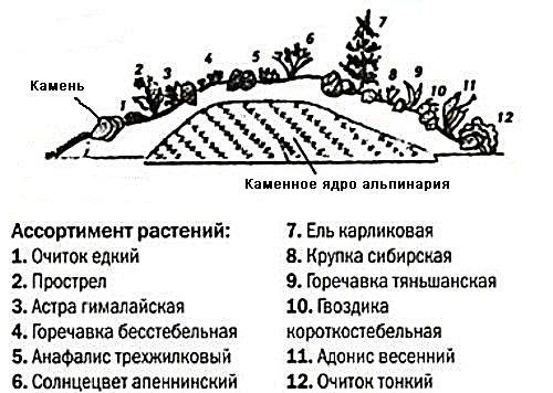Схемы альпийских горок