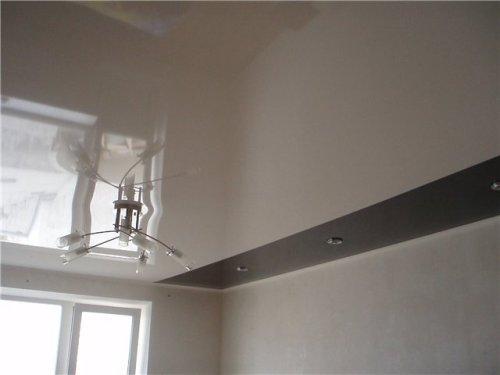 Белый натяжной потолок. Фото 7