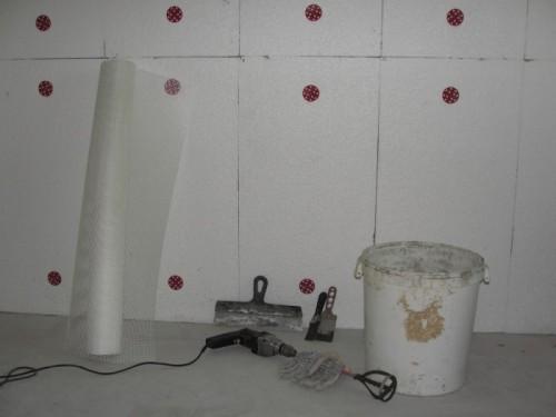 Утепление кирпичной стены пенопластом