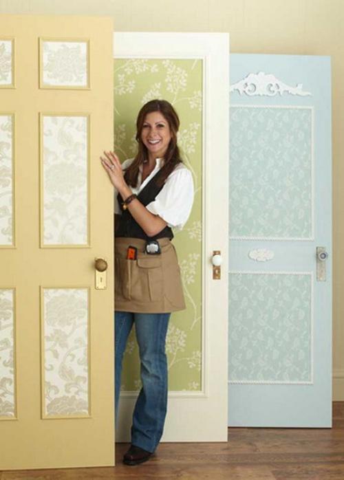 Декорирование дверей текстилем